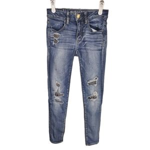 American Eagle Outfitters Ripped Distress Jeggings